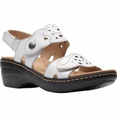 クラークス Clarks レディース サンダル・ミュール ウェッジソール シューズ・靴 Merliah Dove Wedge Slingback Sandal White Leather