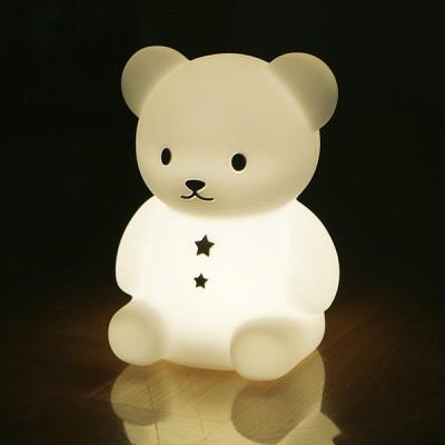 こぐまのおやすみライト LED授乳ランプ 授乳ライト EX-3035/EX-3036 LEDランプ 授乳ランプ 赤ちゃん ベビー 出産祝い 電池 おしゃれ ランタン LEDランタン 調光
