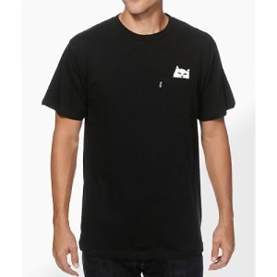 リップンディップ RIPNDIP メンズ Tシャツ ポケット トップス Lord Nermal Black Pocket T-Shirt Black