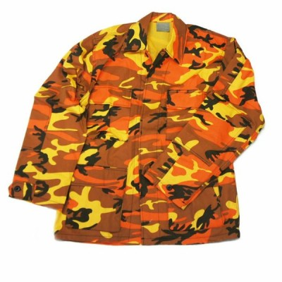 迷彩B.D.U.ジャケット ダンスカラー/オレンジカモ ミリタリーアウター ロスコ ROTHCO Color Camo B.D.U SHIRTS