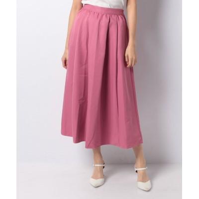 【オフプライス イーシー】 タックギャザーロングスカート レディース Pink M offprice.ec