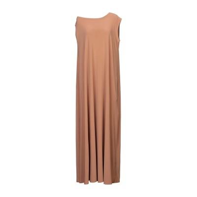 NORMA KAMALI ロングワンピース&ドレス キャメル M ポリエステル 95% / ポリウレタン 5% ロングワンピース&ドレス