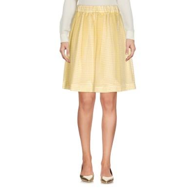 エムエスジーエム MSGM ひざ丈スカート イエロー 40 コットン 75% / シルク 25% ひざ丈スカート