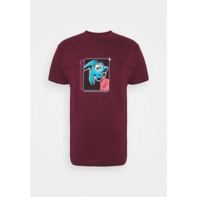 プリミティブ Tシャツ メンズ トップス CONNECTIONS TEE - Print T-shirt - burgundy