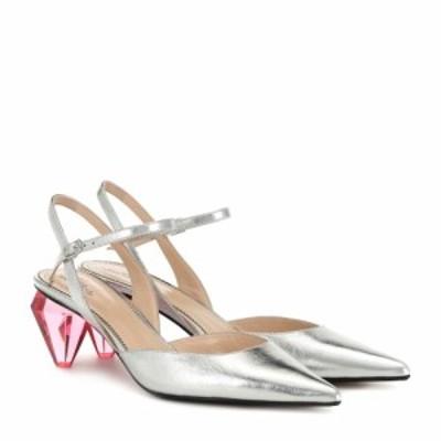 マーク ジェイコブス Marc Jacobs レディース パンプス シューズ・靴 The Slingback leather pumps Silver