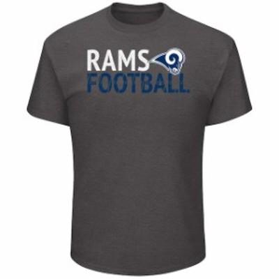 Majestic マジェスティック スポーツ用品  Majestic Los Angeles Rams Heathered Charcoal Safety Blitz T-Shirt