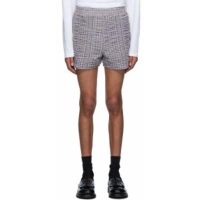 ビアンカ サンダース Bianca Saunders メンズ ショートパンツ ボトムス・パンツ white and brown shrunken shorts Black/White/Brown