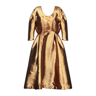 TATA-NAKA 7分丈ワンピース・ドレス ゴールド 12 アセテート 61% / ポリエステル 39% 7分丈ワンピース・ドレス
