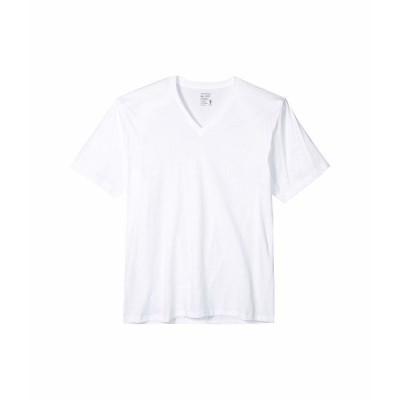 ジョッキー シャツ トップス メンズ Classic Staynew Bonus Pack V-Neck T-Shirt (3-Pack + 1 Free) White