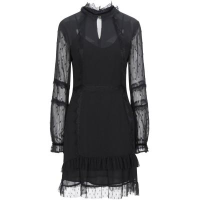 シルビアンヒーチ SILVIAN HEACH ミニワンピース&ドレス ブラック S ポリエステル 100% ミニワンピース&ドレス