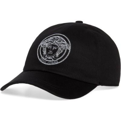 ヴェルサーチ VERSACE メンズ キャップ メデューサ ベースボールキャップ 帽子 Medusa Baseball Cap Black