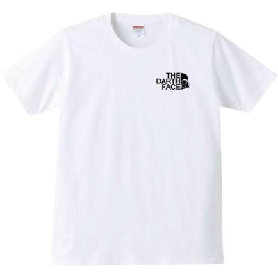 【送料無料】【新品】 THE DARTH FACE ダースフェイス  ワンポイント  おもしろ パロディ Tシャツ ホワイト XXL(3L)