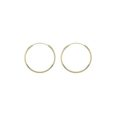 アルジェントヴィーヴォ レディース ピアス&イヤリング アクセサリー 40mm Endless Hoop Earrings GOLD