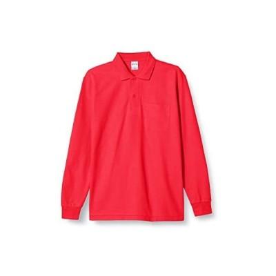 [プリントスター] 5.8オンス TC 鹿の子 長袖 ポロシャツ [ポケット付] 00169-VLP メンズ (レッド M)