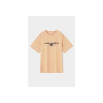 マウジー moussy EMBROIDERY LOGO TSJ (ライトオレンジ)