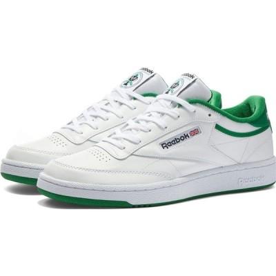 リーボック Reebok メンズ スニーカー シューズ・靴 Club C White/Green