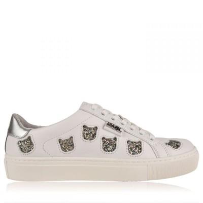 カール ラガーフェルド Karl Lagerfeld レディース スニーカー シューズ・靴 Trainers White S