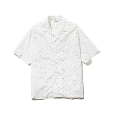 シャツ ブラウス rehacer : Dot Star Open-collared Wide Shirt / ドット スター オープンカラー ワイド