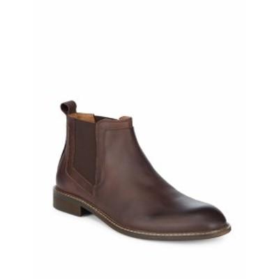 ケネスコール メンズ シューズ ブーツ Round Toe Leather Chelsea Boots