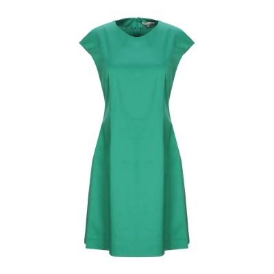 ALTEЯƎGO ミニワンピース&ドレス グリーン 40 コットン 56% / ナイロン 38% / ポリウレタン 6% ミニワンピース&ドレス