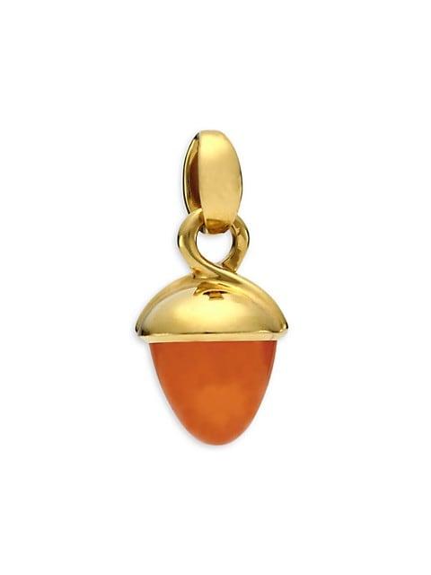 Mikado Bouquet 18K Yellow Gold & Mandarin Garnet Acorn Pendant