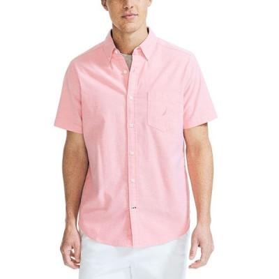ナウティカ メンズ シャツ トップス Men's Classic-Fit Stretch Solid Oxford Shirt
