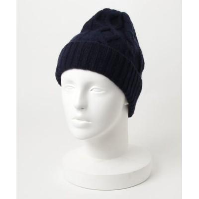 general design store / ■カシミアケーブルニット MEN 帽子 > ニットキャップ/ビーニー