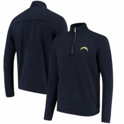 Tommy Bahama トミー バハマ スポーツ用品  Tommy Bahama Los Angeles Chargers Navy Ben & Terry Coast Quarter-Zip Sweate