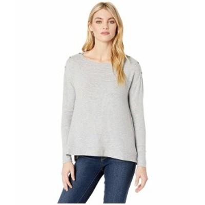 スリードッツ レディース ニット&セーター アウター Brushed Sweater Boxy Long Sleeve Top Heather Gray