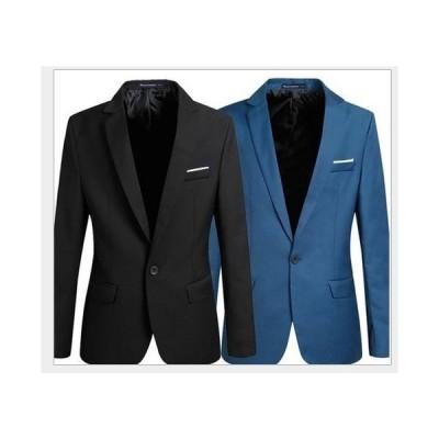 !メンズ 無地 カジュアル 長袖一つボタンスーツ ジャケット テラードジャケット テラジャケ コート4色 フォーマル コート ビジネス 通勤