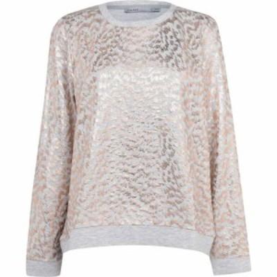 オアシス Oasis レディース ニット・セーター トップス Foil Leopard Sweater Multi Grey
