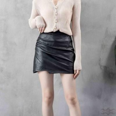 レザースカート タイトスカート ミニレザースカート レザー PU スカート 30代 20代 ペンシルスカート ハイウエスト おしゃれ 美脚 ボトムス 大きいサイズ