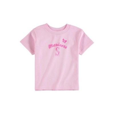 野球 MLB ソフトアズアグレープ Soft As A Grape Seattle Mariners Girls Toddler Pink Home Run T-Shirt