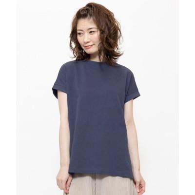 ミリアンデニ mili an deni 310gプイハイネックTシャツ (ブルーネイビー)