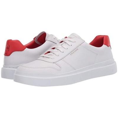 コールハーン Grandpro Rally Court Sneaker レディース スニーカー Optic White/Flame Scarlet/Optic White
