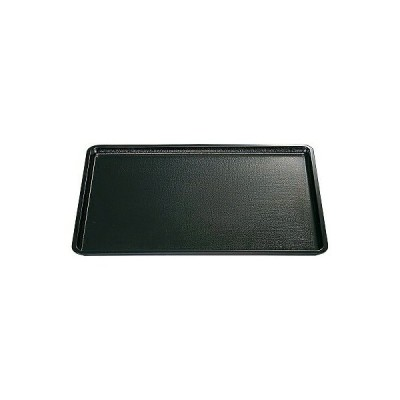 A 平安布目盆 黒NS ノンスリップ加工 尺2寸 1100653