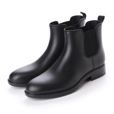 ブラッチャーノ Bracciano レインブーツ メンズ サイドゴア 防水雨靴(BLACK)