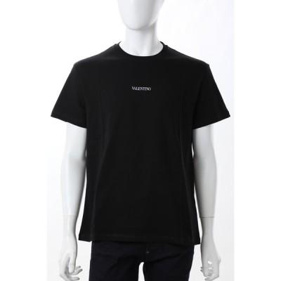 ヴァレンティノ Tシャツ 半袖 丸首 クルーネック メンズ VV3MG10V738 ブラック Valentino 2021年春夏新作
