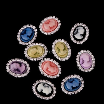10色 飾りボタン 装飾材料 衣装のラインストーン 手芸用最適 クラフト用品