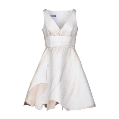 モスキーノ MOSCHINO ミニワンピース&ドレス アイボリー 44 アセテート 60% / レーヨン 40% ミニワンピース&ドレス