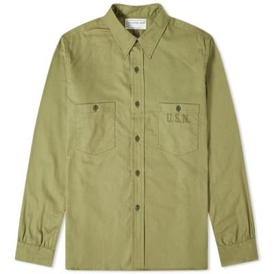 ザ リアル マッコイズ The Real McCoys メンズ シャツ トップス The Real McCoy's N-3 Utility Shirt Olive