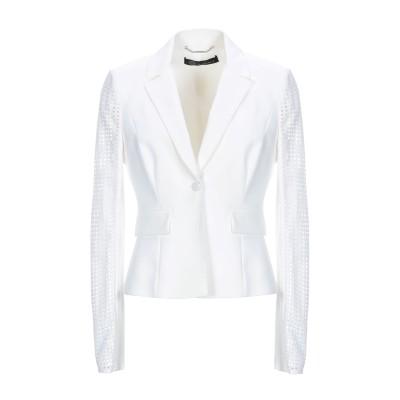 VERSACE テーラードジャケット ホワイト 42 コットン 53% / ナイロン 41% / ポリウレタン 6% テーラードジャケット
