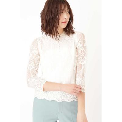 JILLSTUART ◆エリサレース刺繍ブラウス ホワイト S