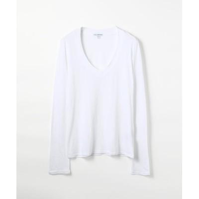 【トゥモローランド】 ベーシック Vネック長袖Tシャツ WMJ3931 レディース ホワイト 0(S) TOMORROWLAND