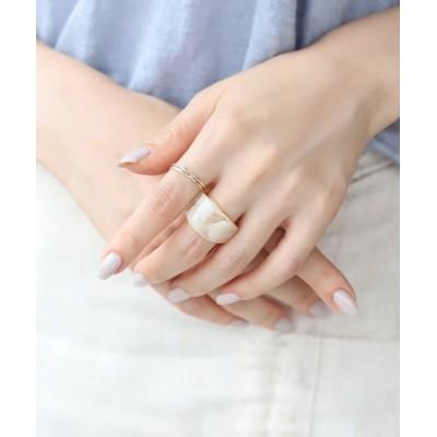 指輪 クリアカラーワイドリング