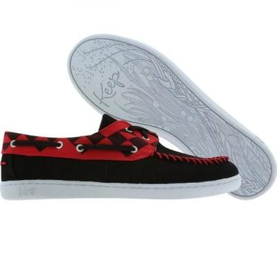 キープ Keep レディース スニーカー シューズ・靴 Benten black/red snakenose