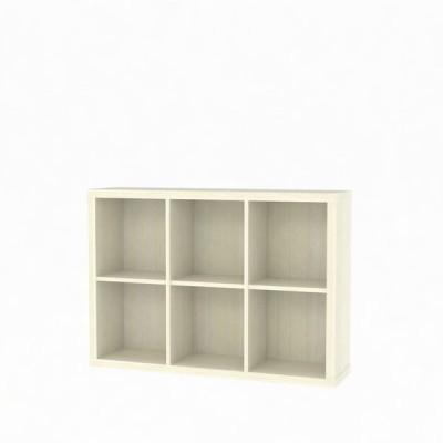 白井産業 セパルテック 重厚感のある本棚 書庫 セミオーダーラック A4ファイル対応 木製 アイボリー 幅1100×奥行283×高さ774mm(直送品)