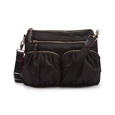 Korvara Nylon Crossbody Bag, Black - Premium Lightweight Top-Zip Shoulder Handbag【並行輸入品】