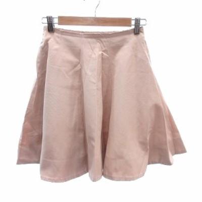 【中古】デイシー deicy フレアスカート ミニ 刺繍 F ピンク /AU レディース