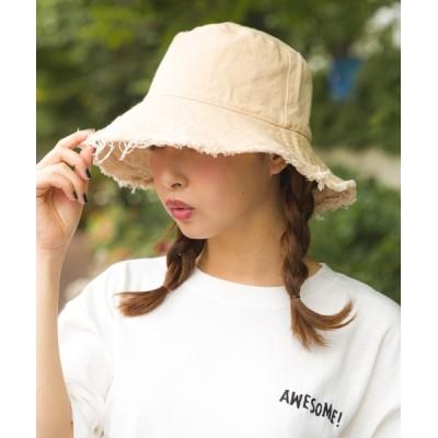 SpRay / リバーシブルフリンジバケットHAT WOMEN 帽子 > ハット
